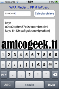 Scoprire password reti wifi Alice con iPhone