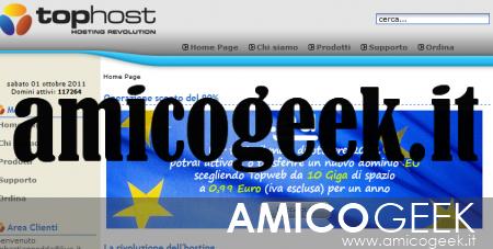 Registrare un dominio EU su Tophost a basso costo