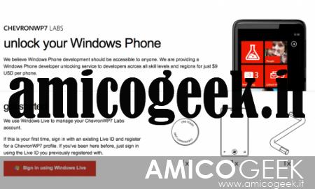 Guida per sbloccare legalmente Windows Phone 7