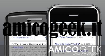 Creare una versione mobile del blog WordPress per cellulari e tablet