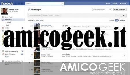 Eliminare i messaggi di Facebook