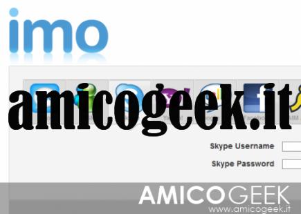 Chattare su Skype online con Imo
