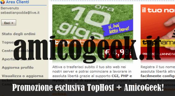 Domini .it e .com a prezzo scontato con Tophost e Amicogeek