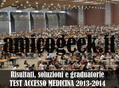 Studenti impegnati nel test di accesso in Medicina